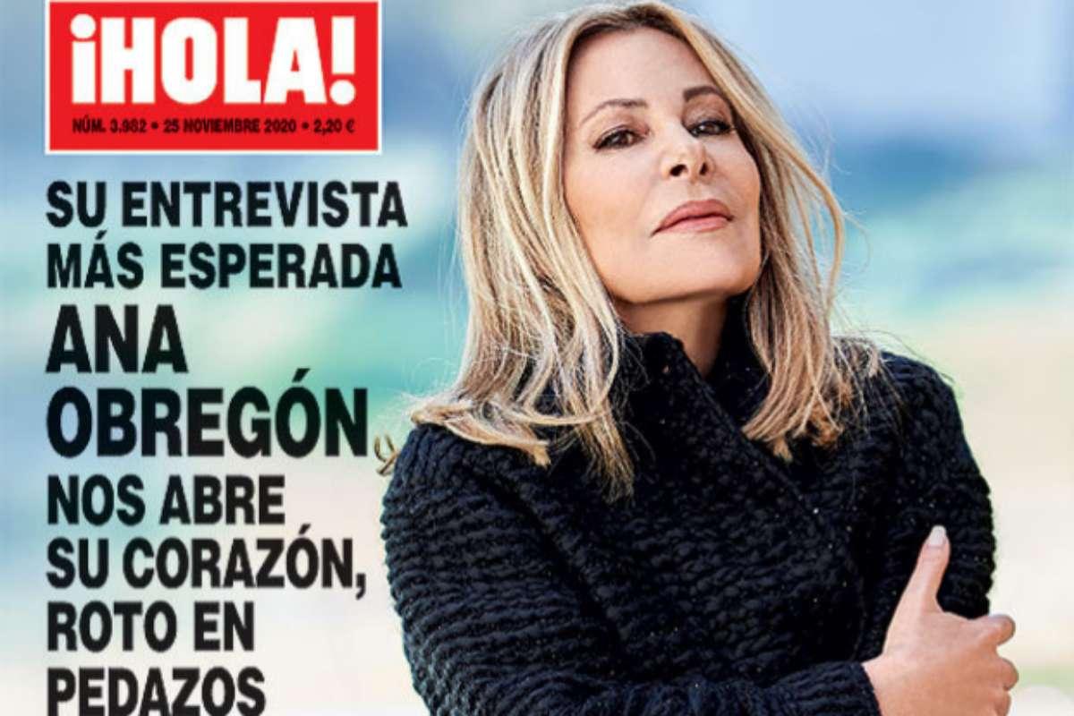 La presentadora, en la portada de la revista ¡Hola!, en la primera entrevista que concede tras la muerte de su hijo.