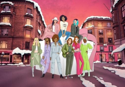 El elenco de personajes animados del cortometraje. Foto: cortesía de Pandora.