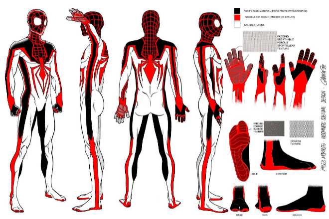 The T.R.A.C.K. Suit, el traje diseñado por Javier Garrón para el videojuego Marvel's Spider-Man: Miles Morales. / INSOMNIAC