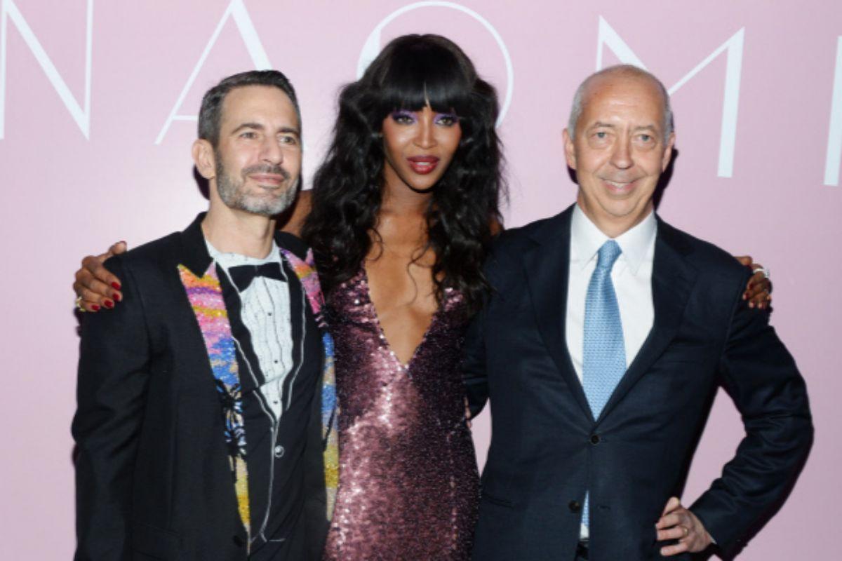 Junto al diseñador Marc Jacobs (i) y la modelo Naomi Campbell, en 2016.