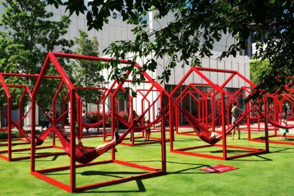 Estructura presentada en la séptima edición del Bienal Iberoamericana de Diseño