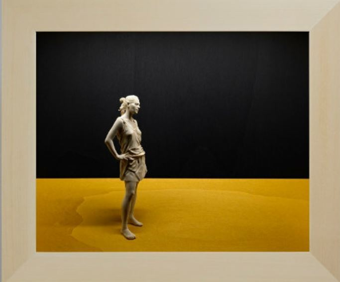 Escultura de Peter Demetz de la muestra 'Un momento que trasciende'