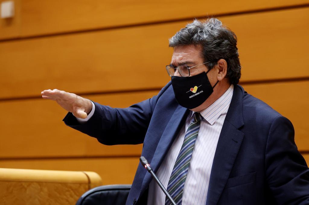 José Luis Escrivá, ministro de Seguridad Social, en una comparecencia reciente en el Senado.