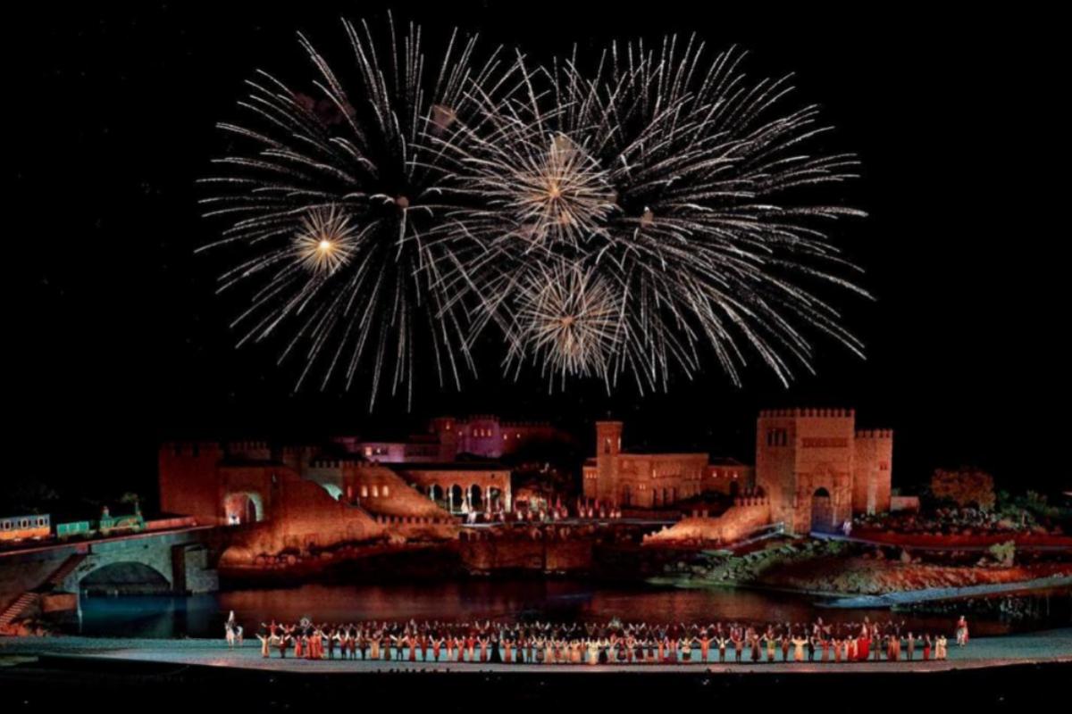 Fuegos artificiales ponen el colofón a 'El sueño de Toledo', en agosto de 2019.