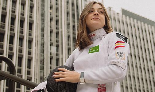 La campeona de esgrima Teresa Díaz.