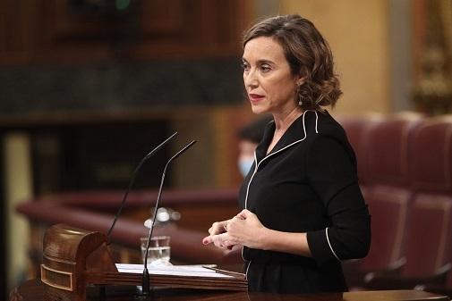 Concepción Gamarra en una imagen del 30 de septiembre de 2020 en el Congreso de loso Diputados