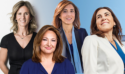De izq. a dcha.: Cristina Garmendia, presidenta de Cotec; Marta Álvarez, presidenta de El Corte Inglés; Pilar López, presidenta de Microsoft, y María Jesús Almazor, CEO de Telefónica España.