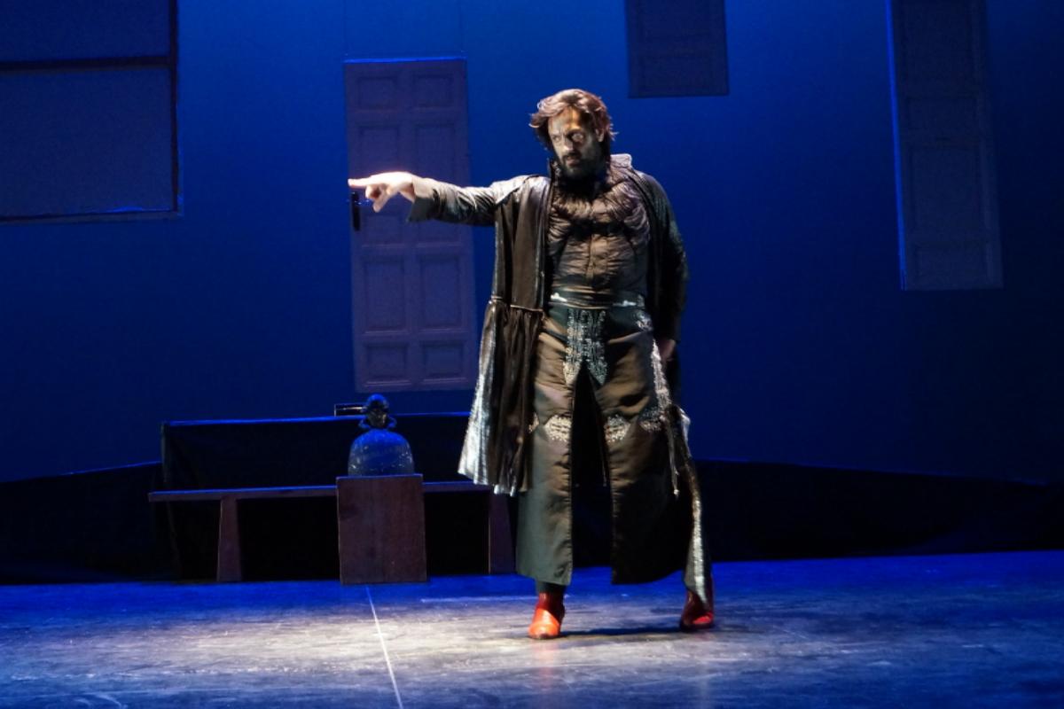 El coreógrafo y bailarín Rafael Amargo, durante un ensayo de 'Yerma'.