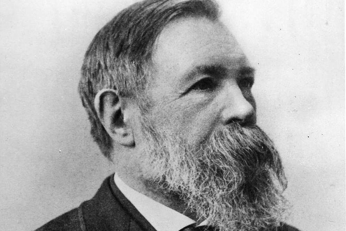 Friedrich Engels (1820-1895), en una fotografía tomada poco antes de morir.