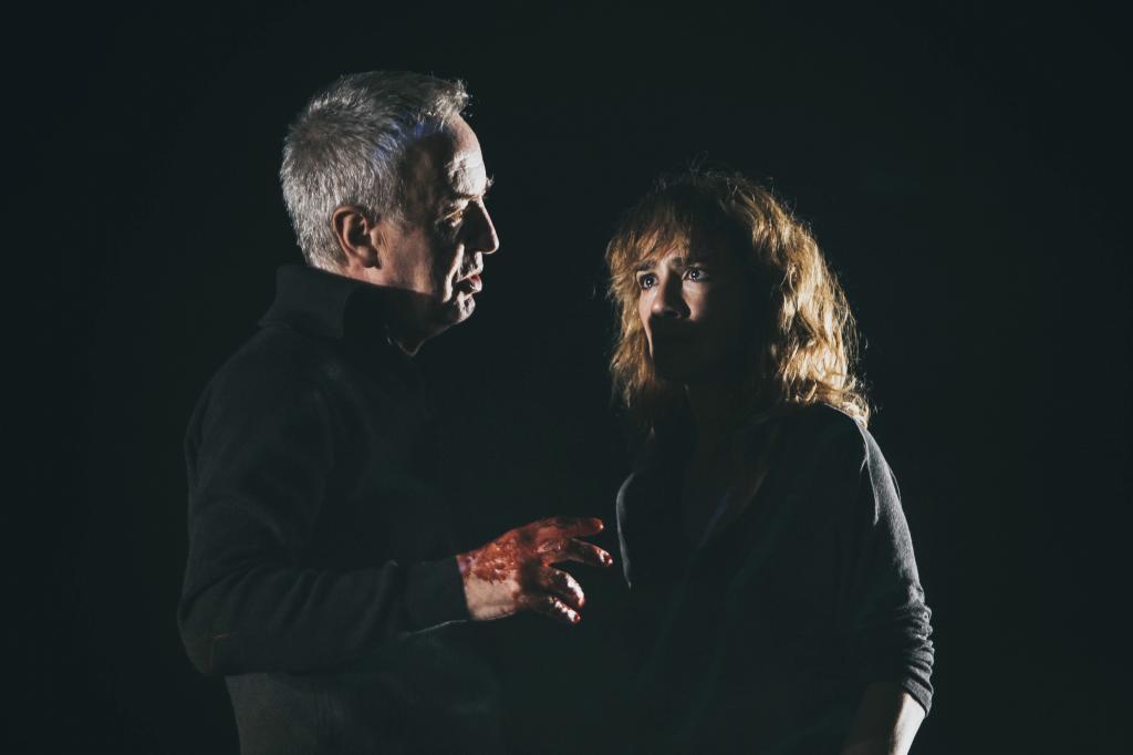 Escena de Macbeth, en el teatro María Guerrero