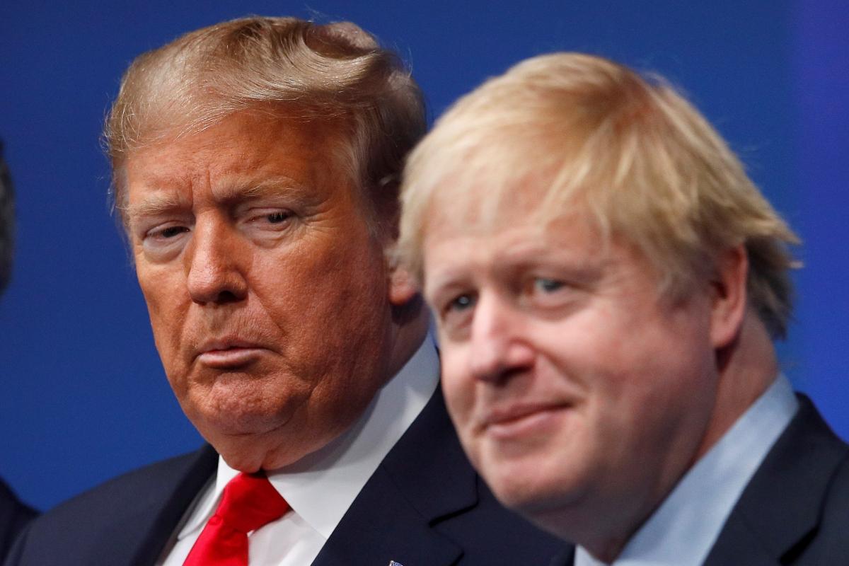 Donald Trump, presidente de Estados Unidos, junto a Boris Johnson, premier británico