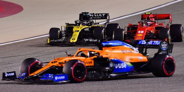 Sainz, por delante de Ricciardo y Leclerc en Sakhir.