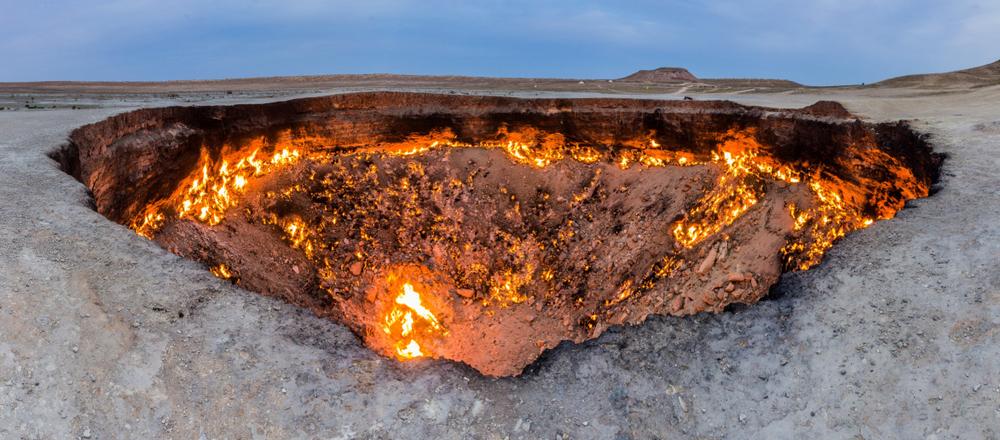 El pozo de Darvaza lleva 50 años en llamas.