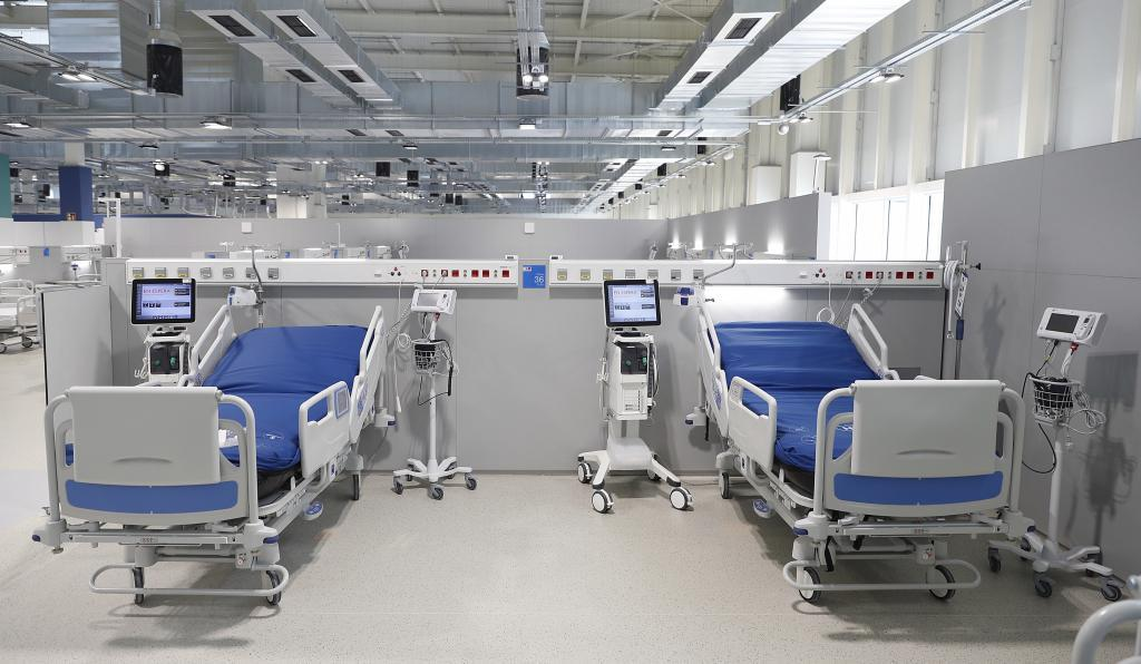 Zona de camas del nuevo hospital