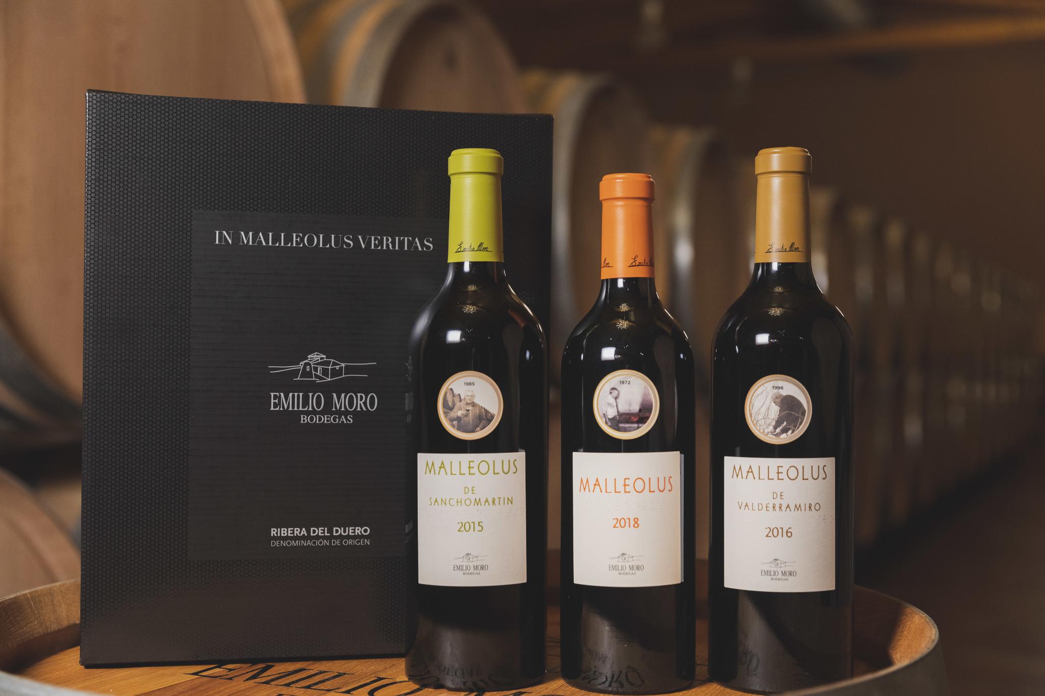 Estuche que reúne por primera vez su icónico Malleolus y los vinos exclusivos de pago Malleolus de Valderramiro y Malleolus de Sanchomartín.