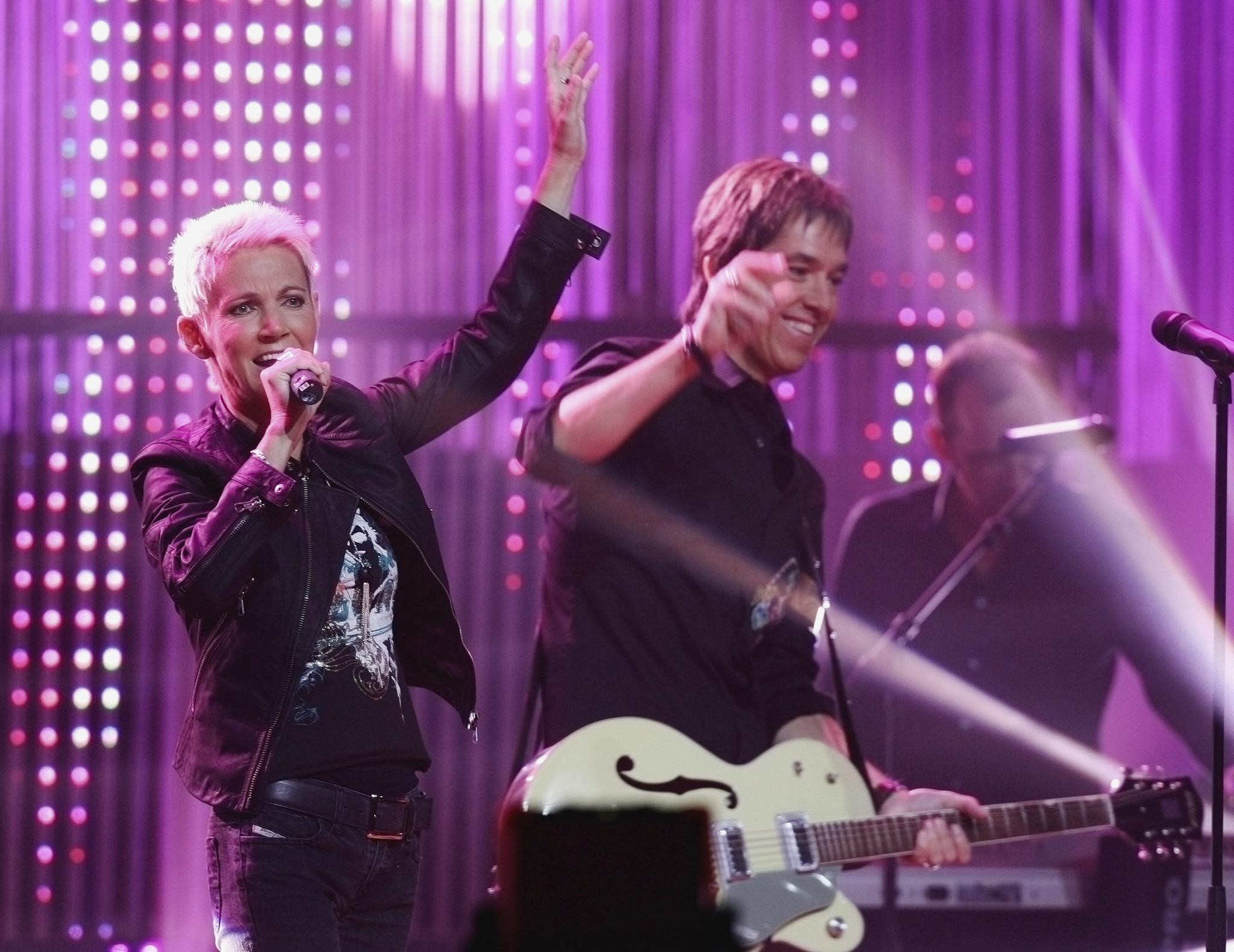 Roxette, en un concierto, en 2006.