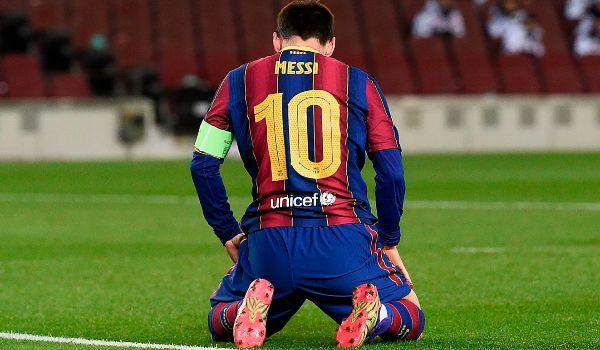 Messi, tras una ocasión fallada ante Buffon.