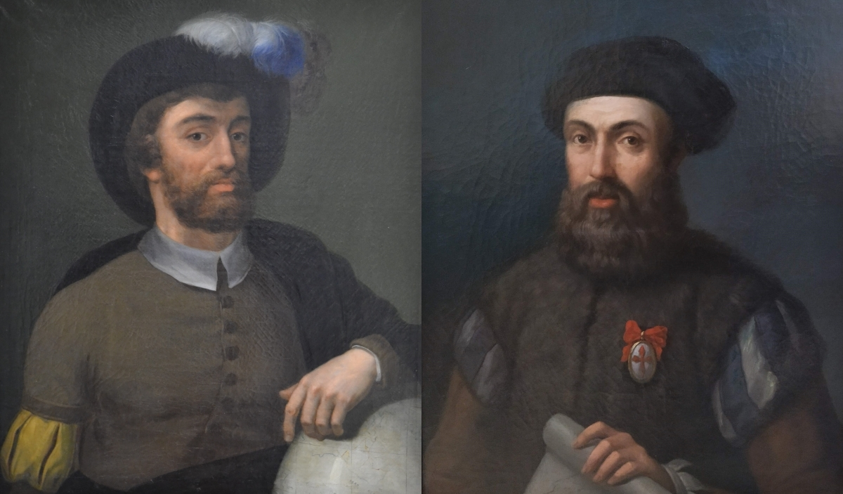 Elcano y Magallanes.