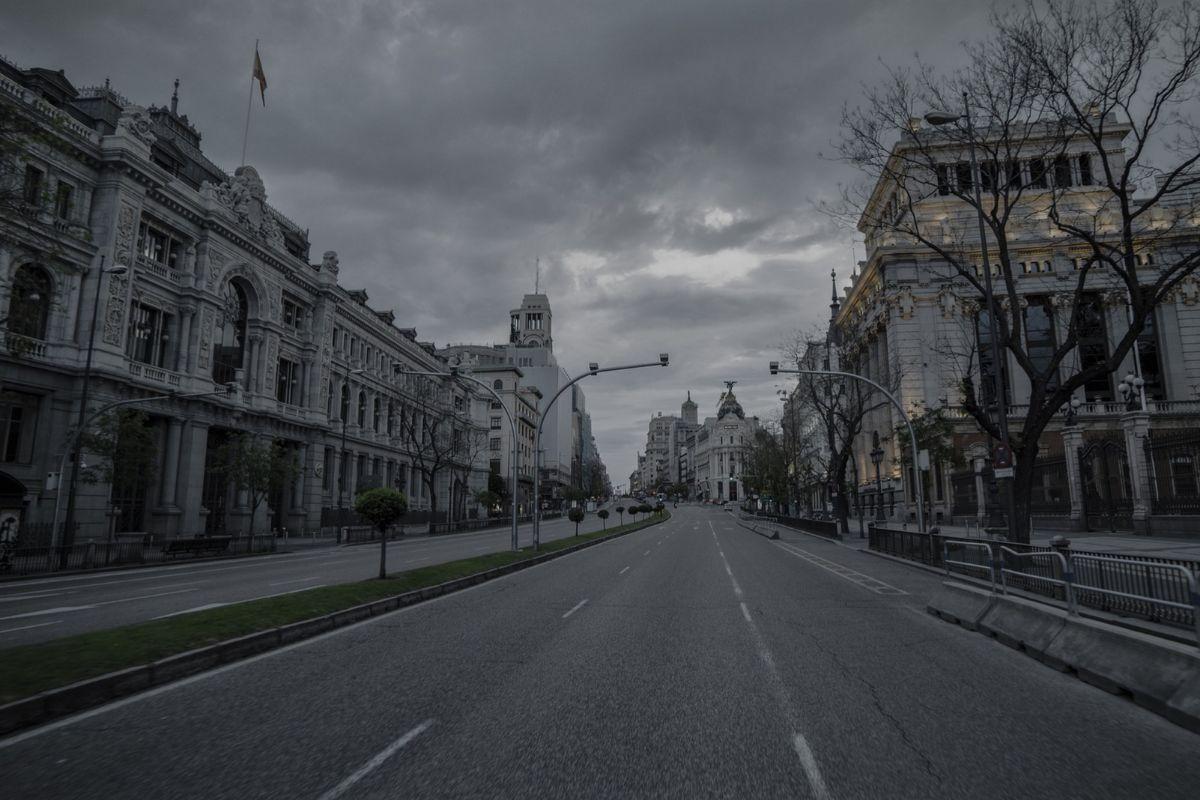 La madrileña calle de Alcalá.