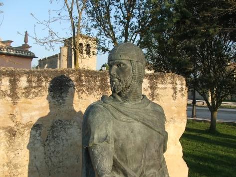 Detalle del monumento al Cid, en Vivar del Cid.
