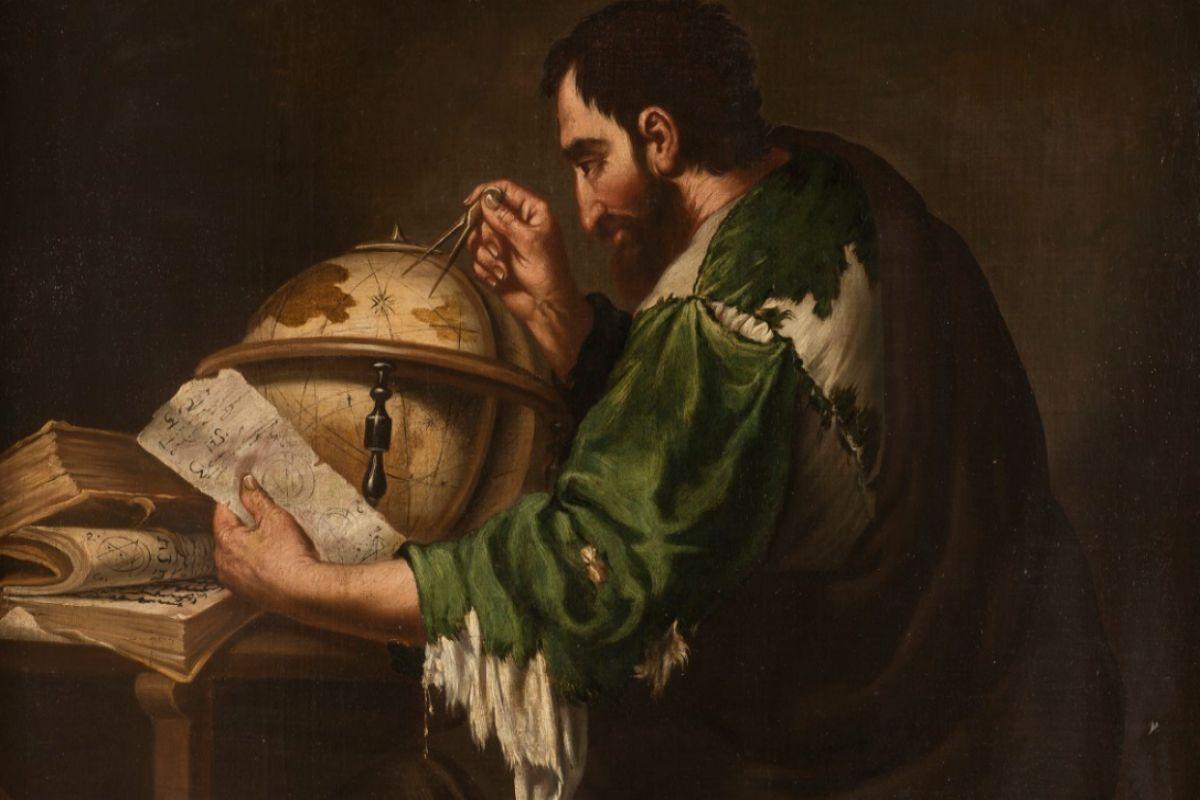 Una de las piezas de la serie 'Dos filósofos' de Miguel March,