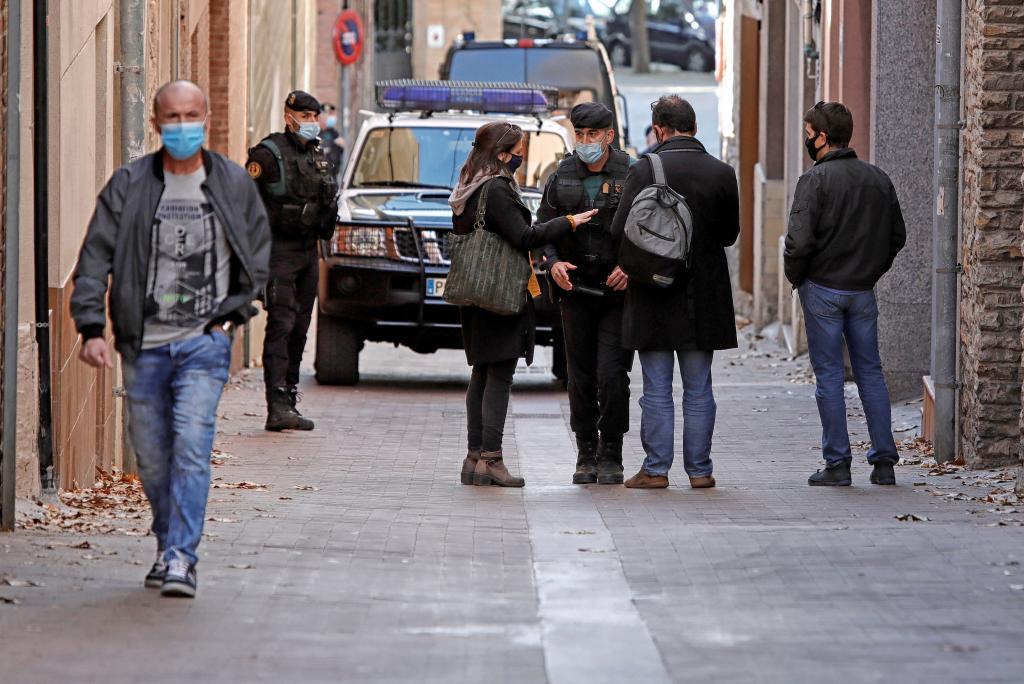 Imagen de la operación policial en octubre pasado