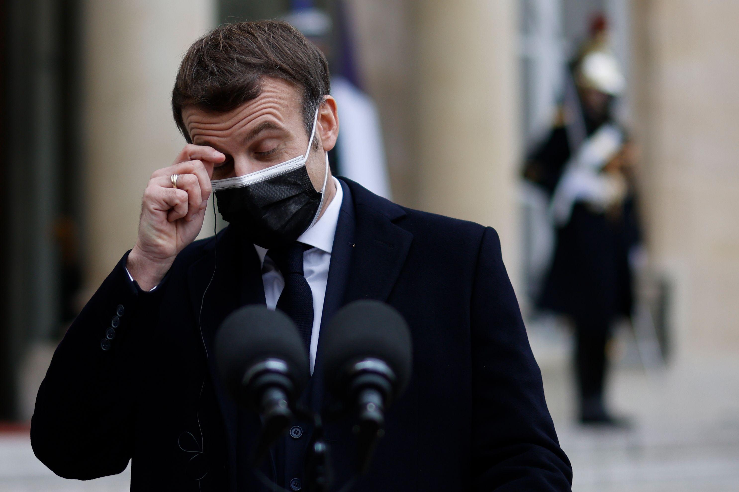 El presidente francés, Emmanuel Macron, en París.