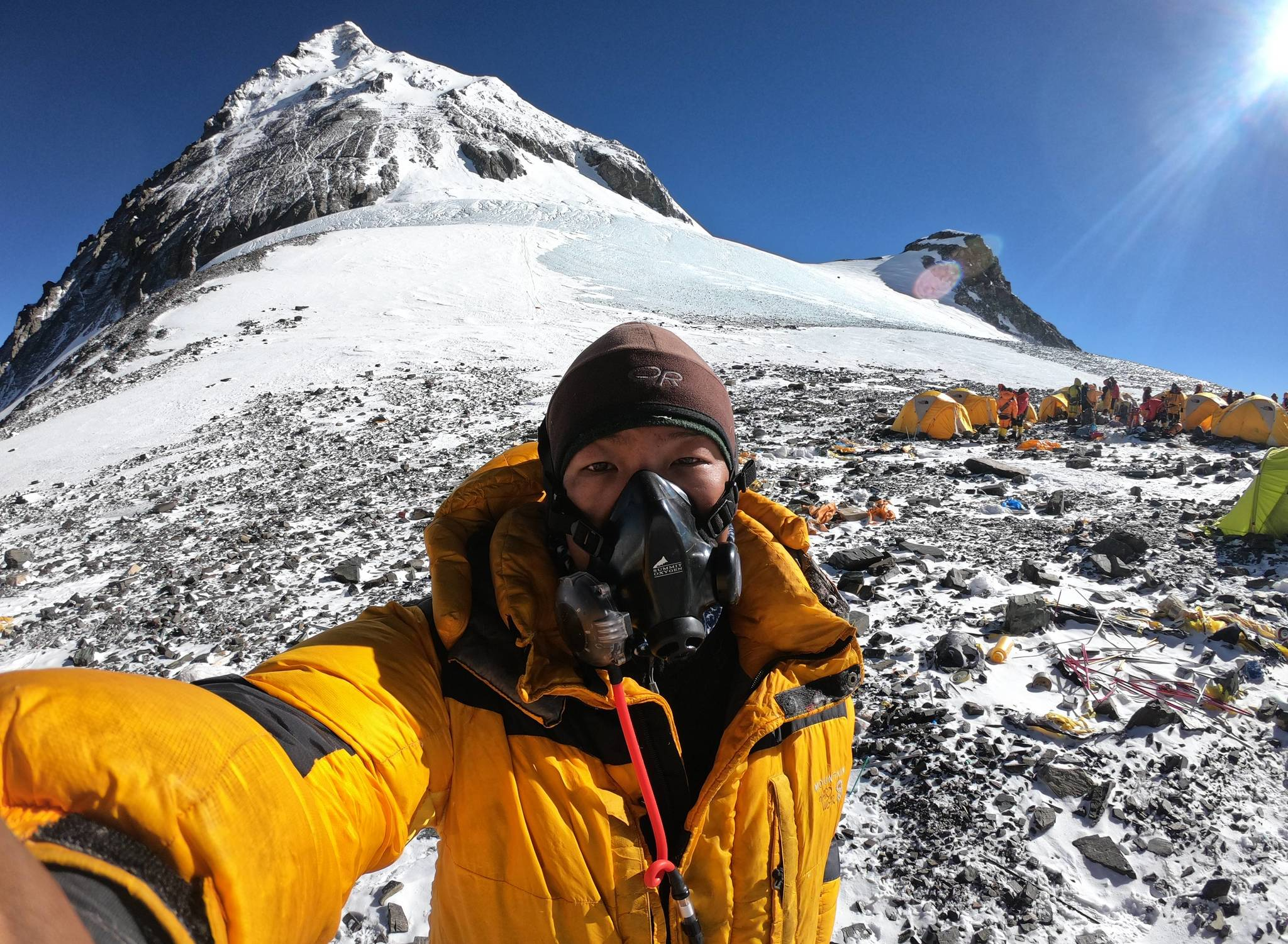 Nuru en el Campo 4 del Everest (Nepal).