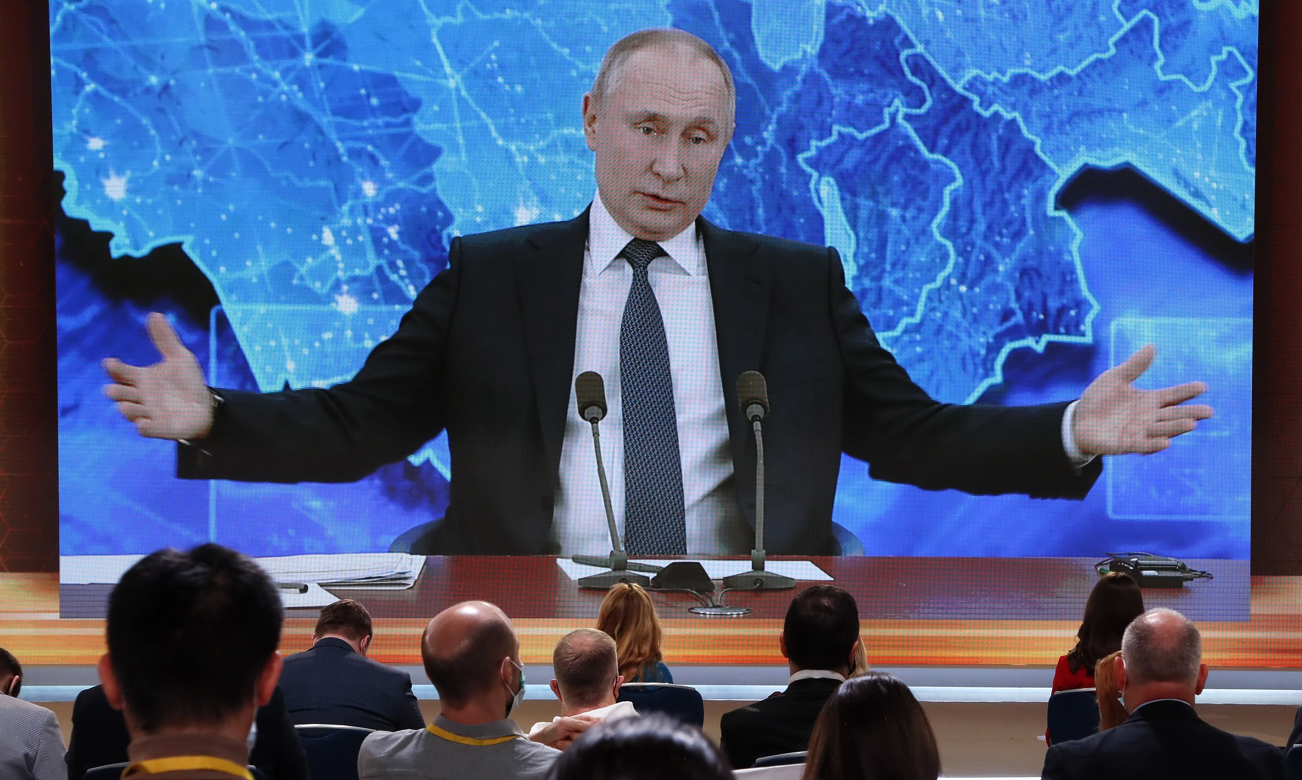 Rueda de prensa anual de Vladimir Putin.