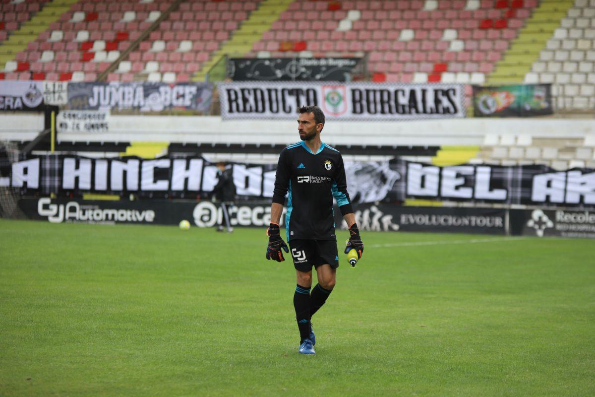 Barovero, en un partido con el Burgos.