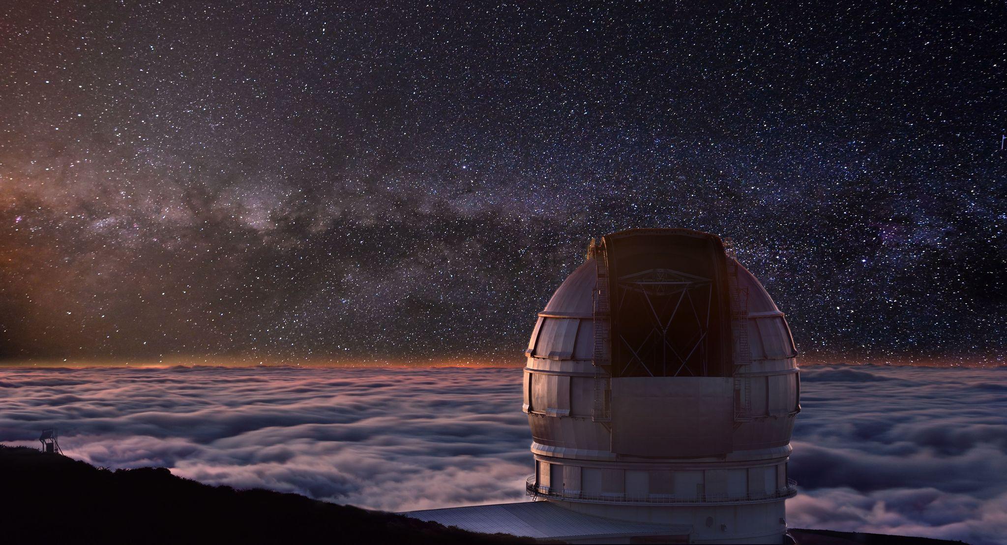 El Observatorio del Roque de los Muchachos.