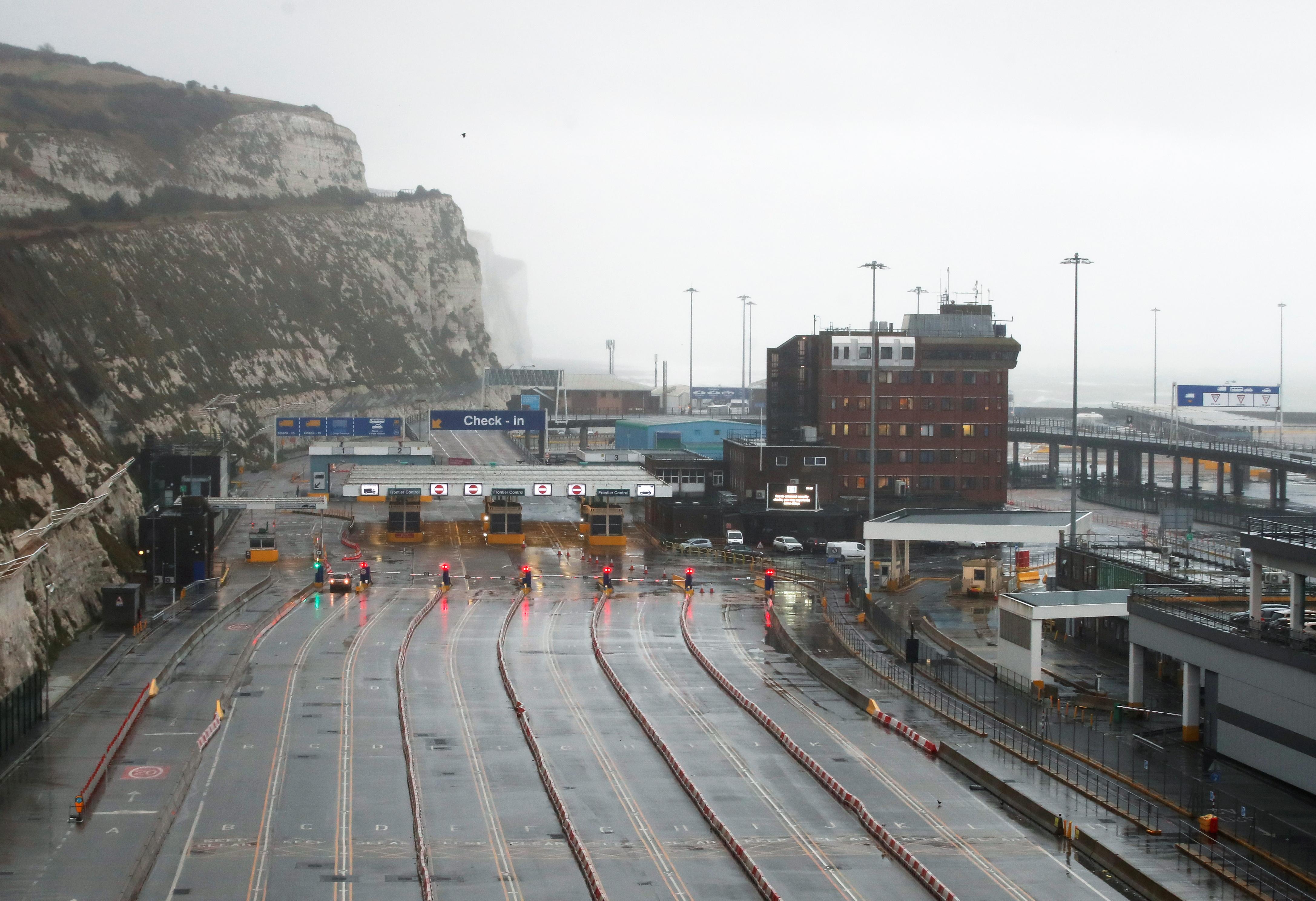 El puerto de Dover, en Reino Unido.