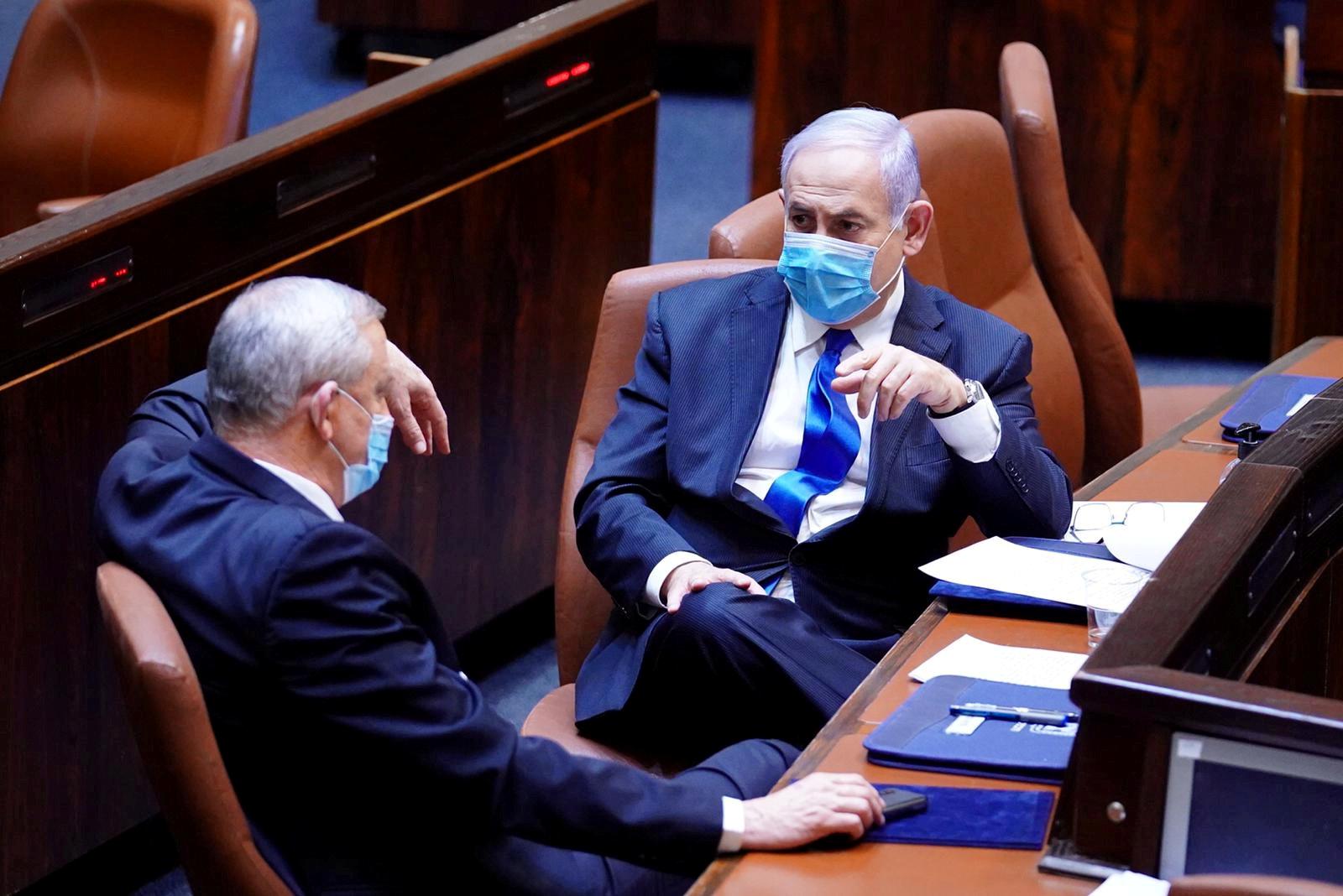 Benjamin Netanyahu y Benny Gantz.