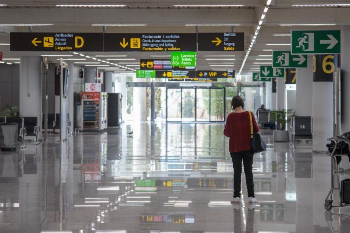 Aeropuerto de Palma, prácticamente vacío durante los meses más duros de la pandemia.