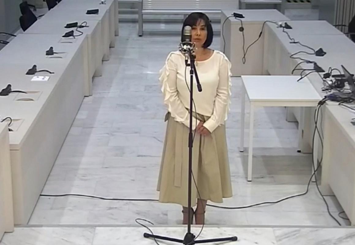 Claudia Patricia Díaz ante la Audiencia Nacional.