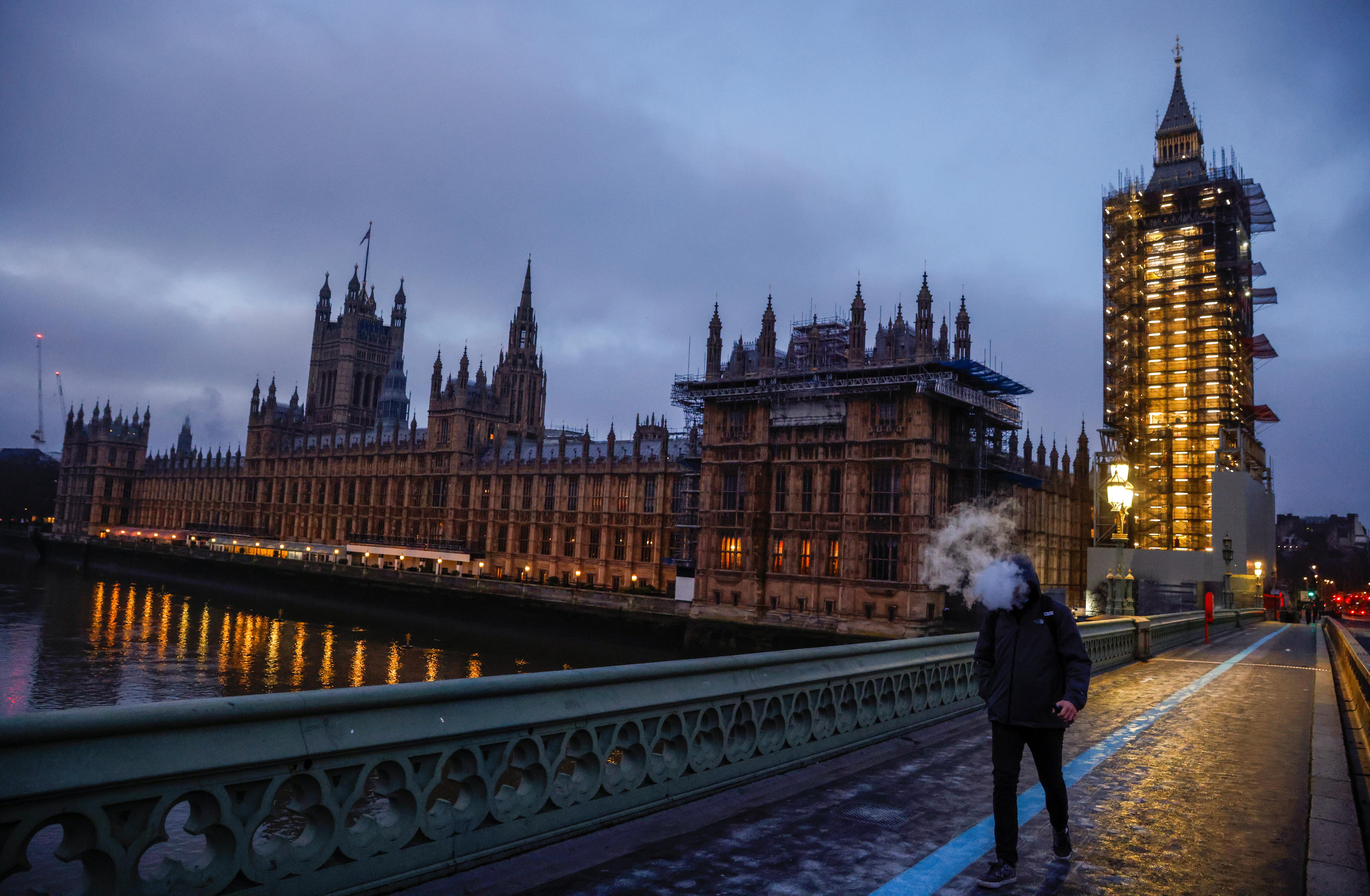Vista de Westminster desde el Puente de Londres.