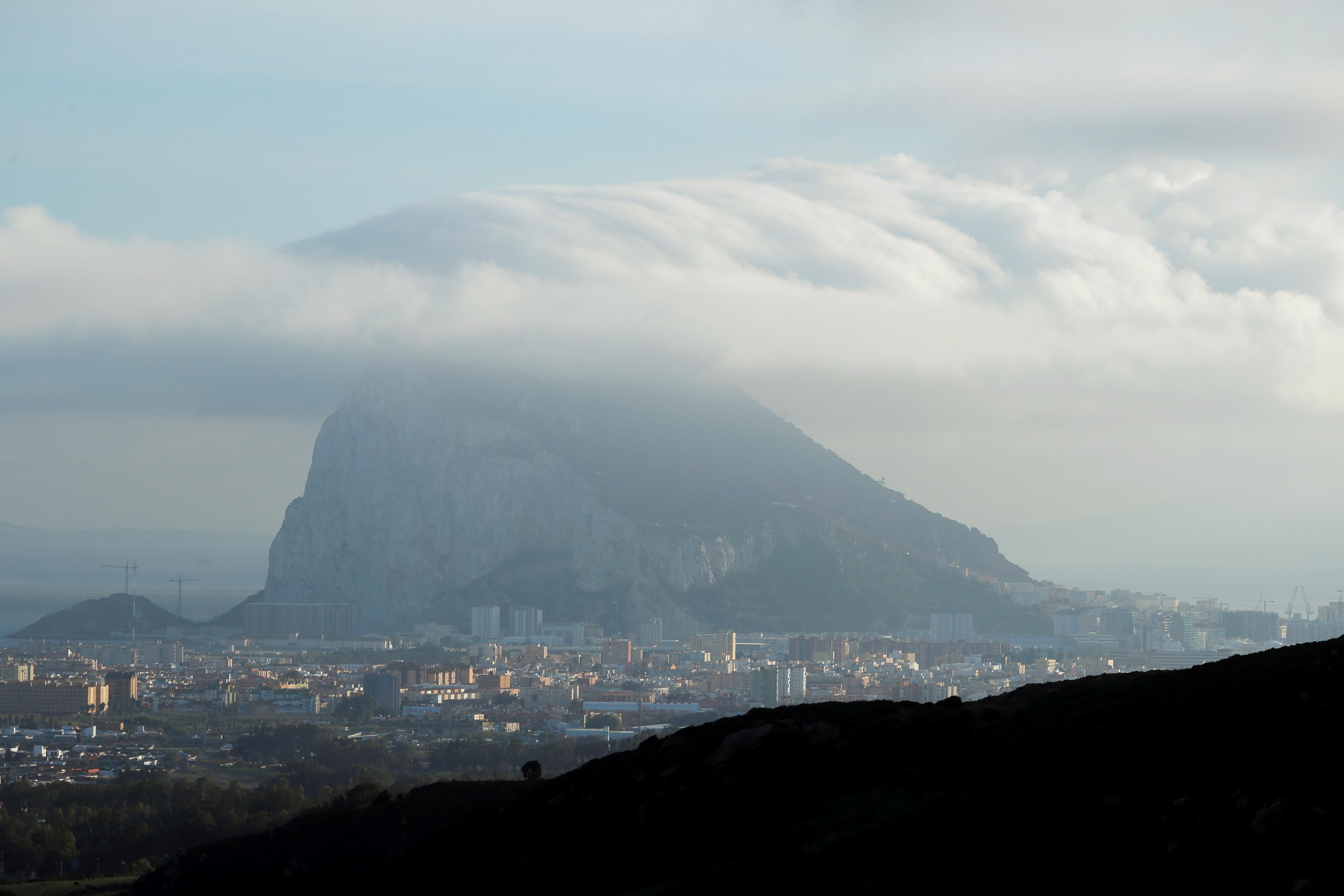 Vista del Peñón de Gibraltar.