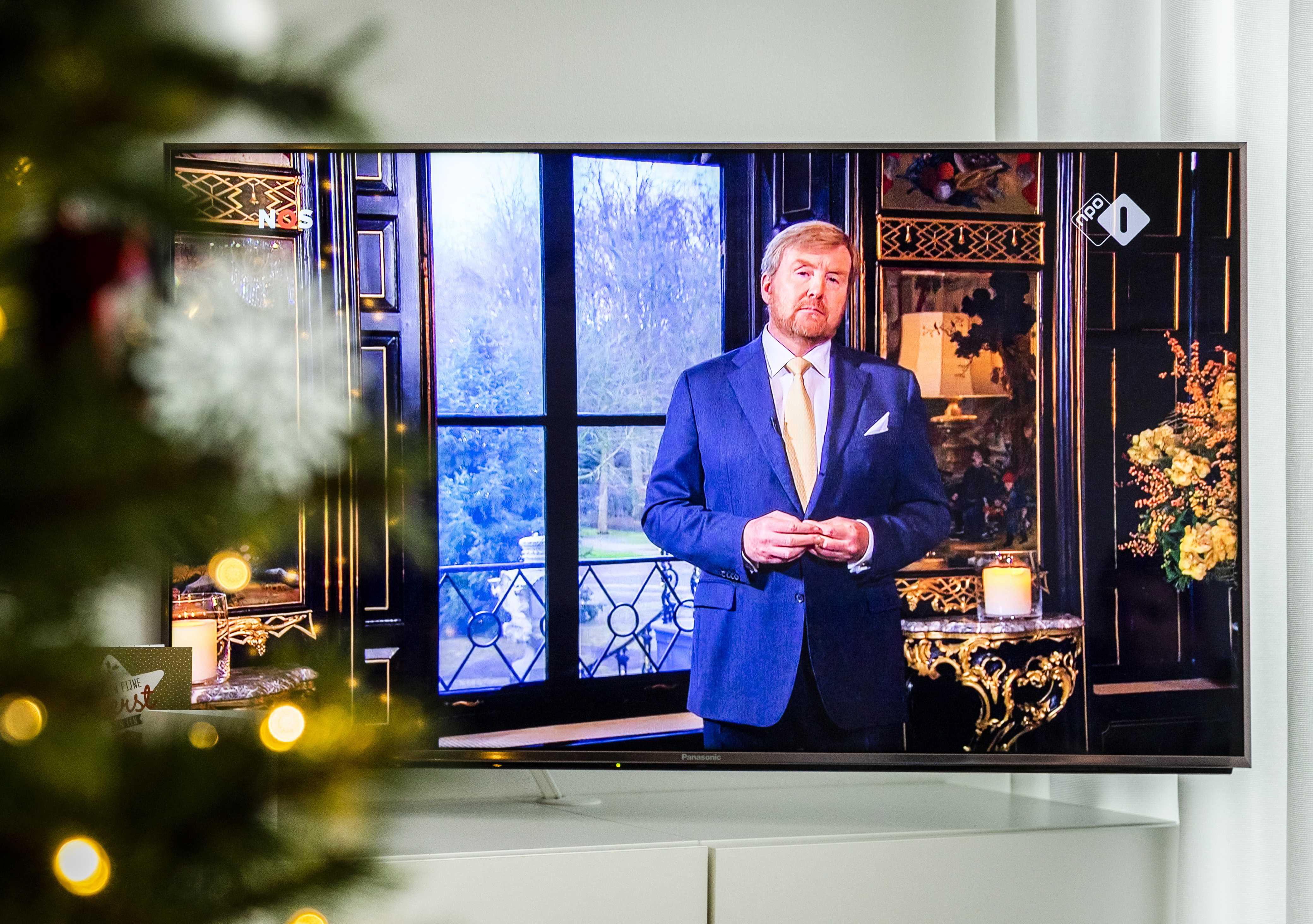 Guillermo de Holanda. durante su mensaje de Navidad.