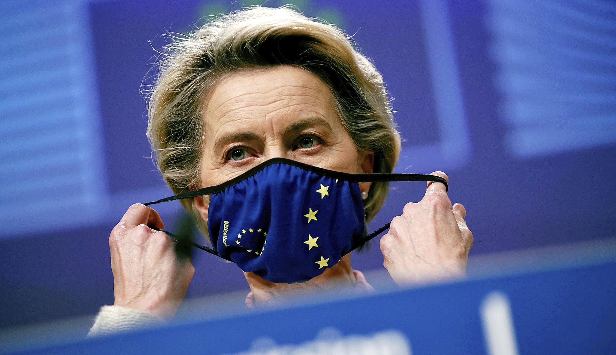 La presidenta de la Comisión Europea, Ursula von der Layen.