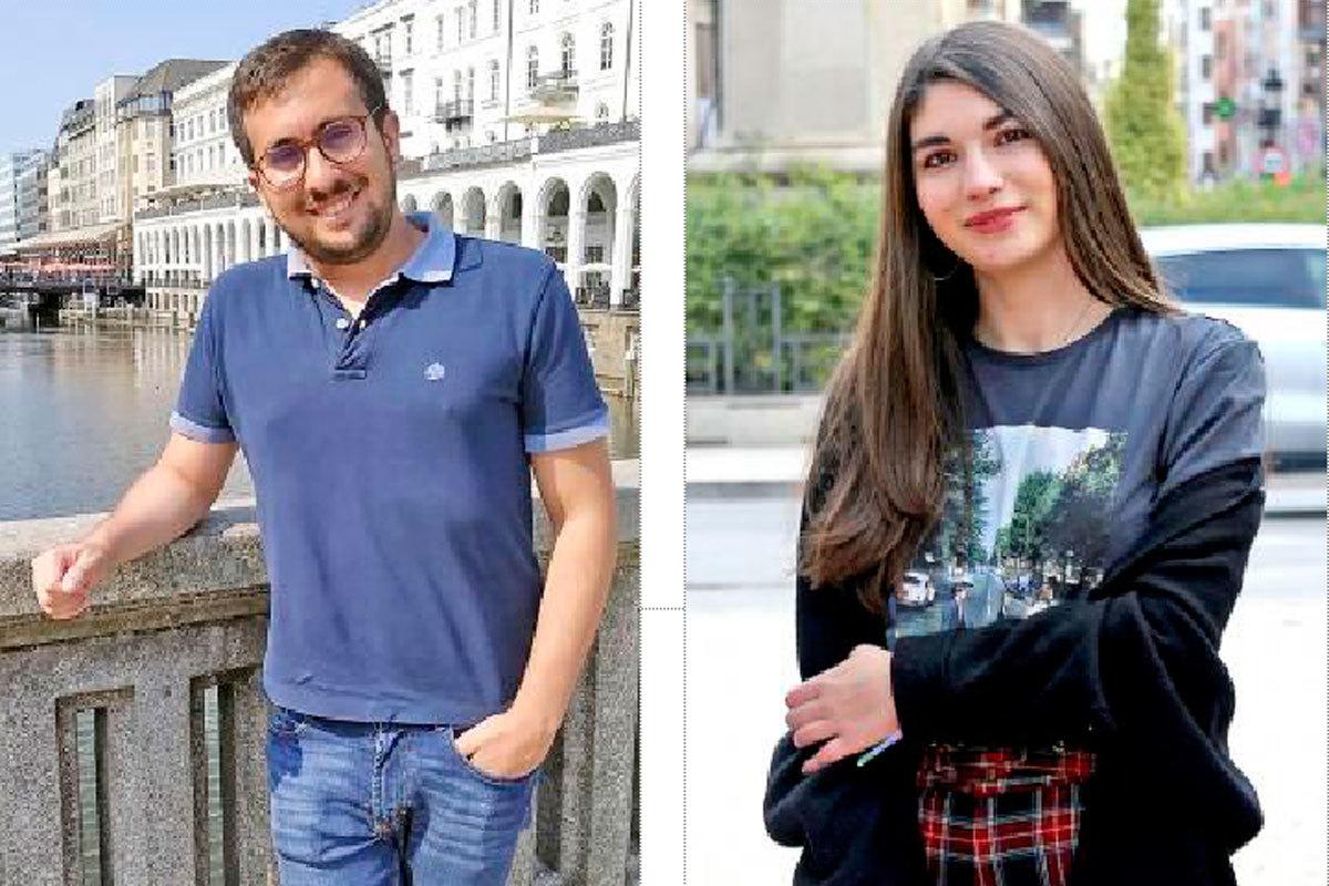 Presidente y vicepresidenta del Consell de la Joventut de Castellón.
