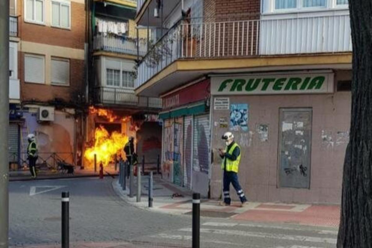 Incendio en la vivienda de Getafe por una fuga de gas