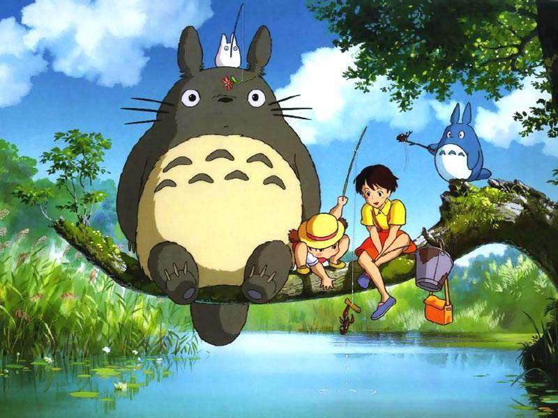 Fotograma de 'Mi vecino Totoro'.