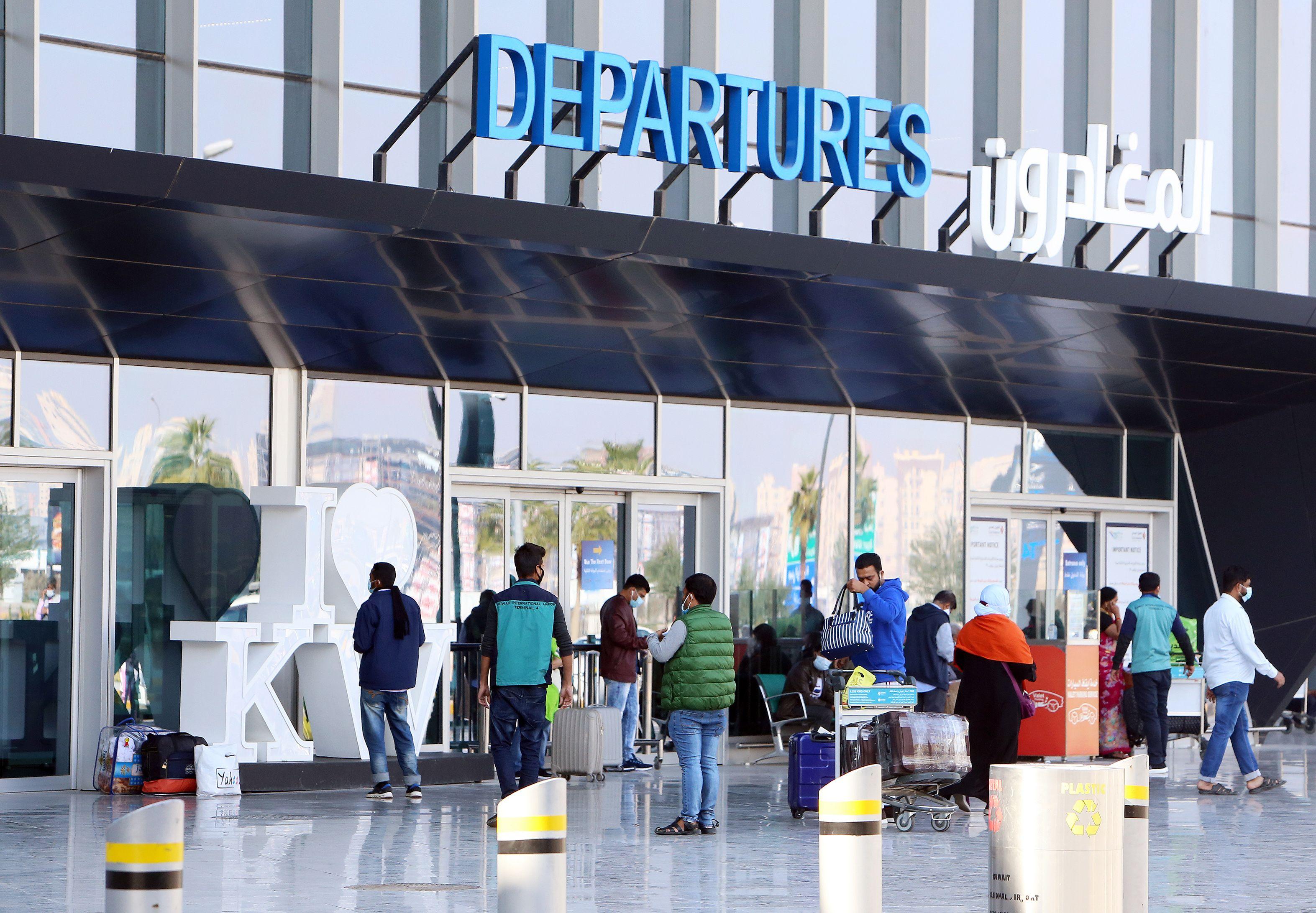 نمایی از فرودگاه کویت.