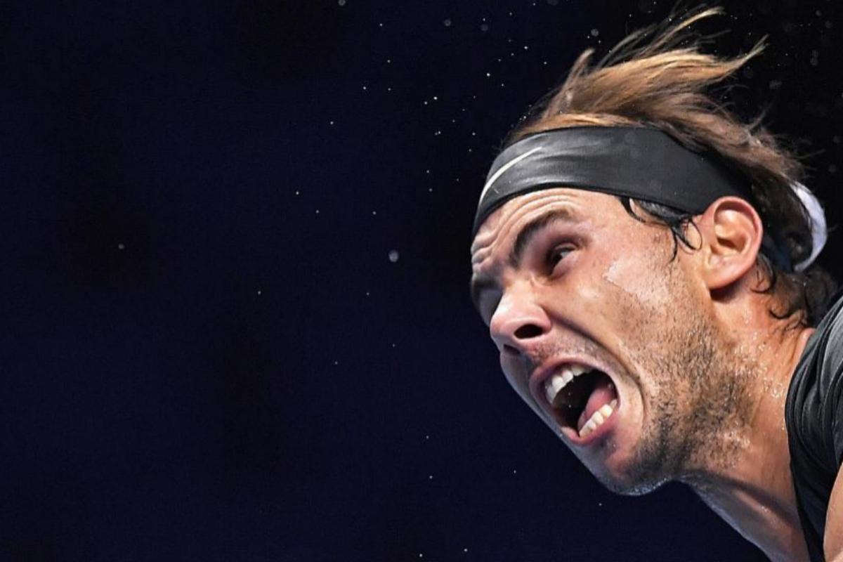 Rafa Nadal, durante las Finales ATP.