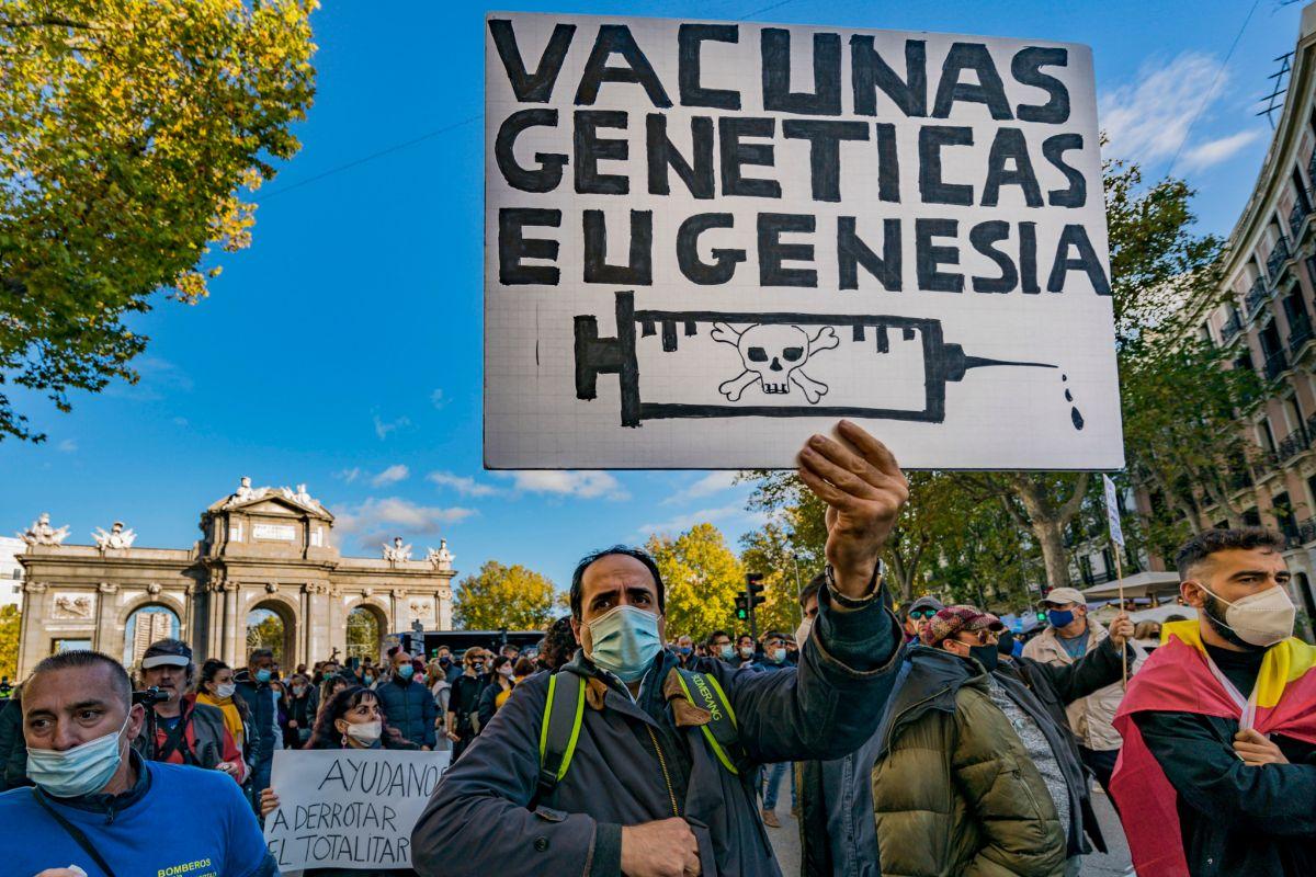 Manifestación contra la medidas adoptadas frente al Covid, celebrada en Madrid en noviembre pasado.