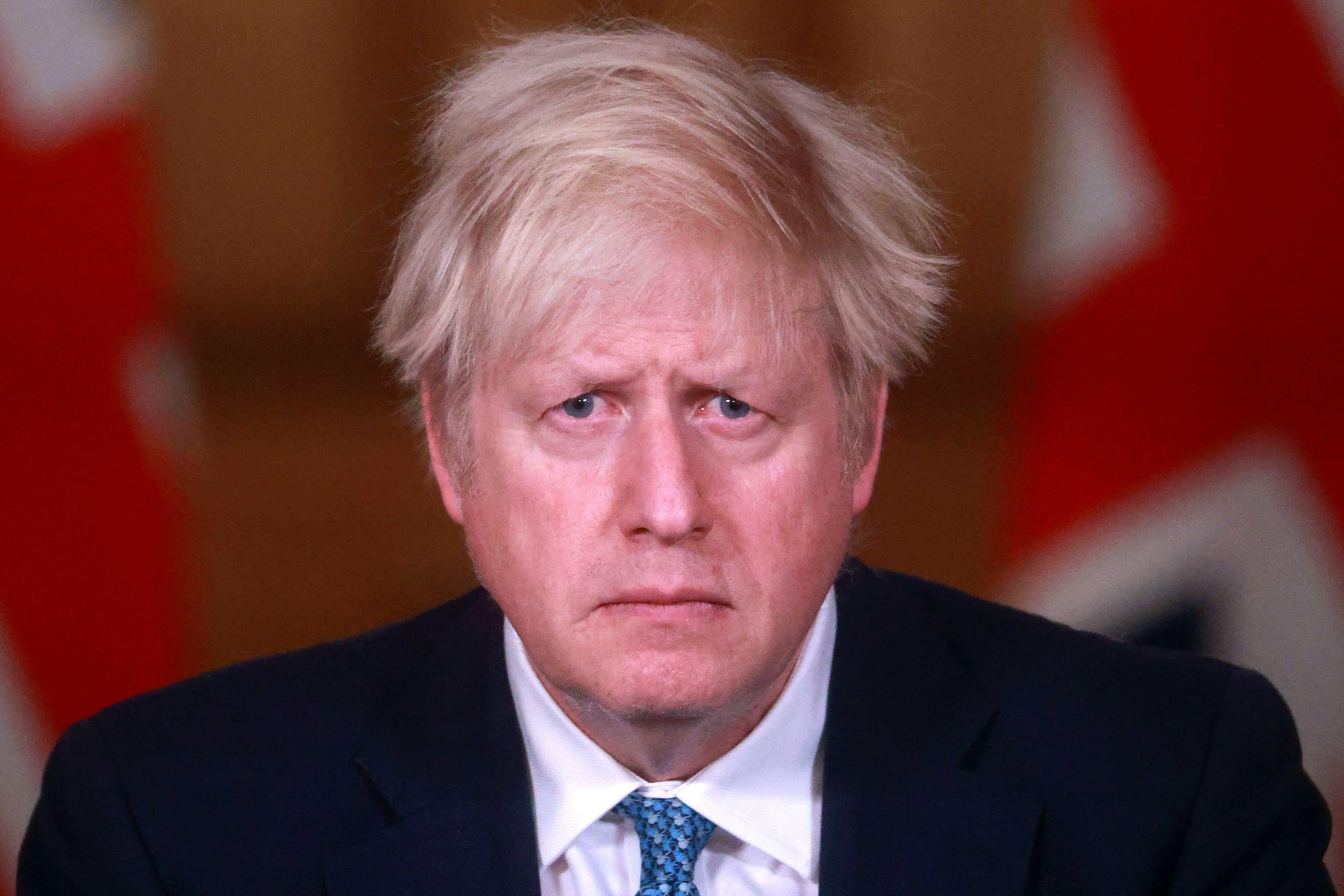 Rueda de prensa del 'premier' Boris Johnson.