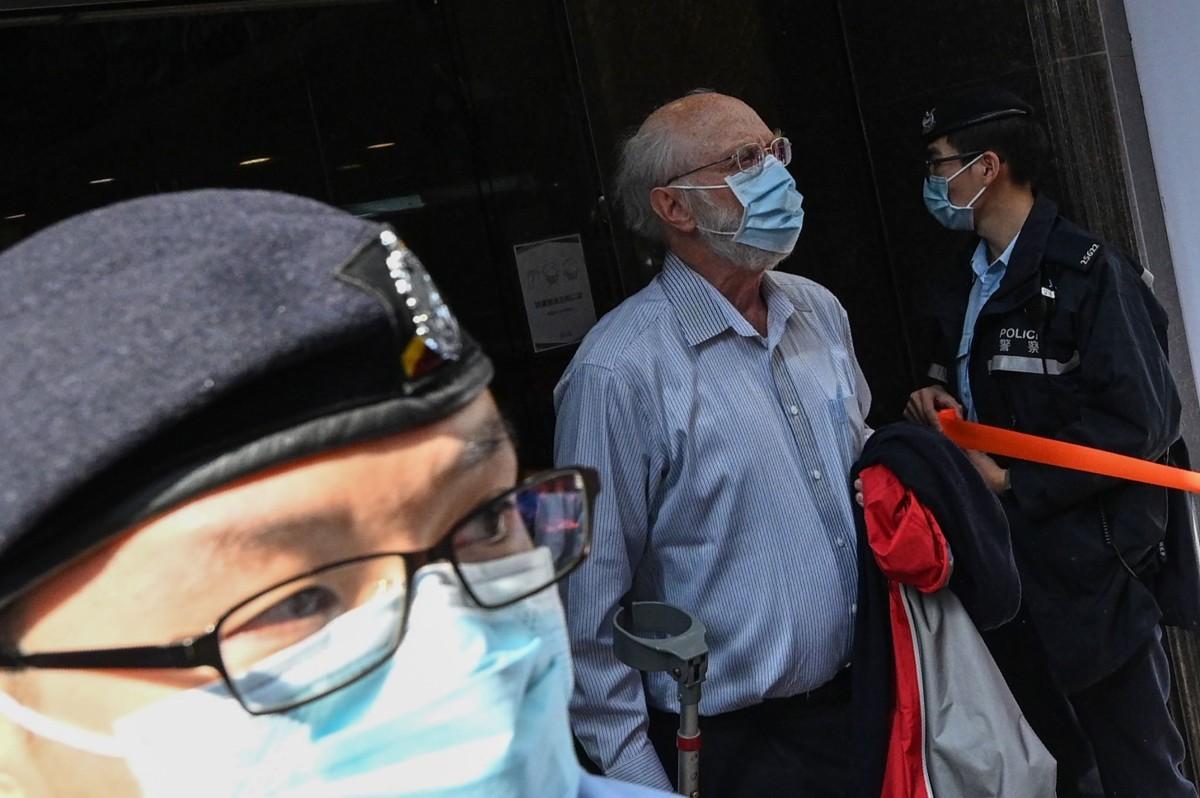 وکیل آمریکایی جان کلنسی ، بازداشت شده در هنگ کنگ.