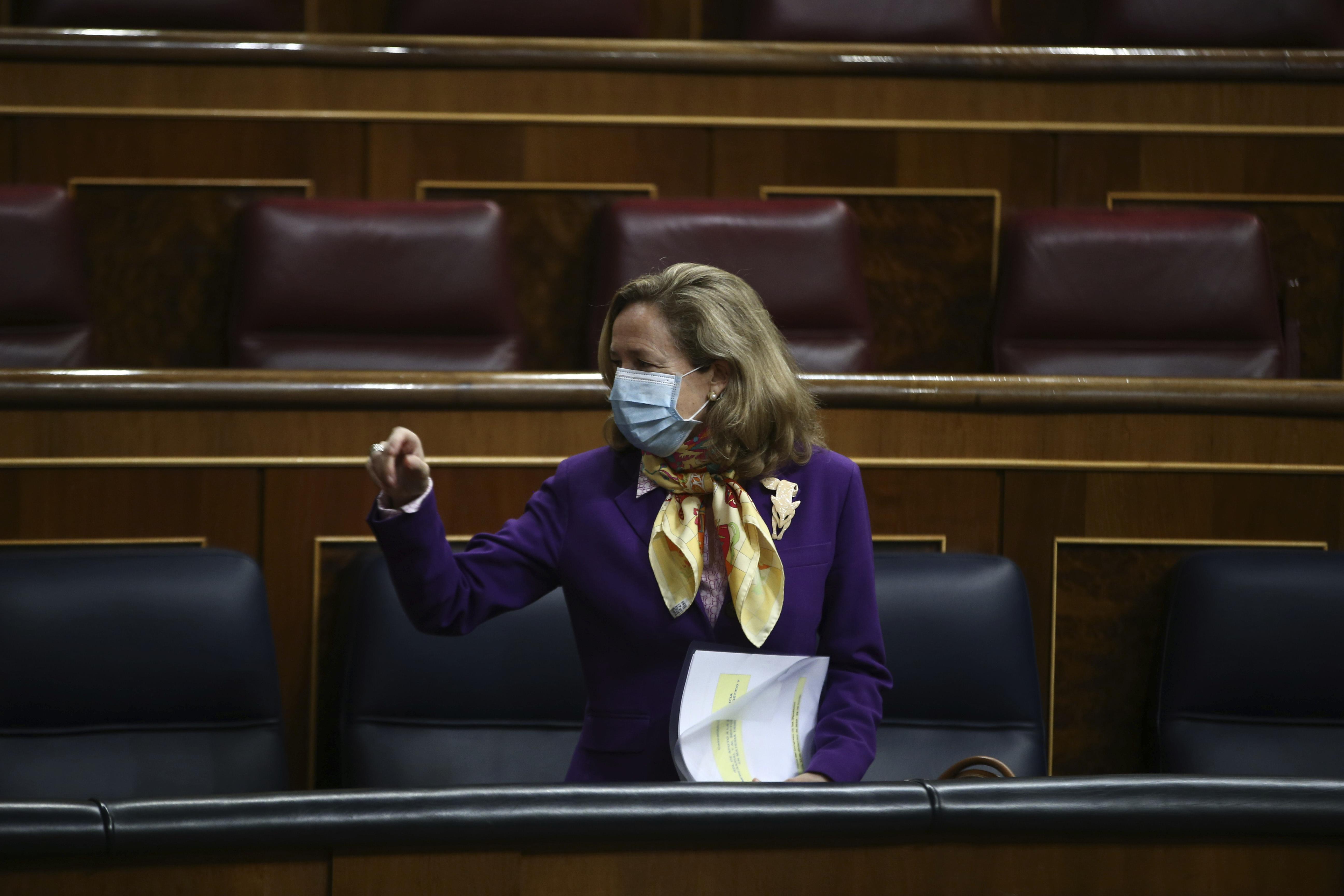 Nadia Calviño, vicepresidenta tercera del Gobierno y ministra de Asuntos Económicos y para la Transformación Digital.