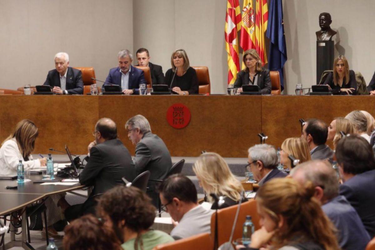 Imagen de un pleno de la Diputación