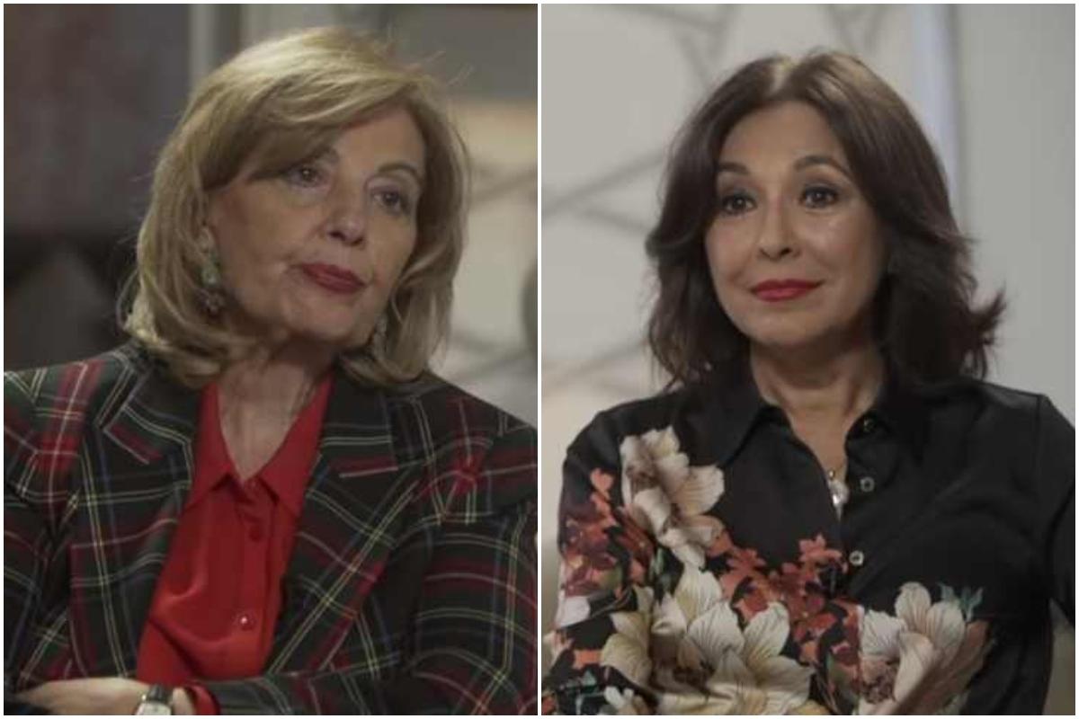 María Teresa Campos e Isabel Gemio, durante la entrevista de esta a la malagueña.